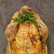 Roast Chicken with Herbs — Stock Photo