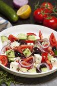 Sałatka grecka — Zdjęcie stockowe