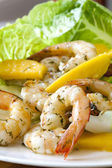 Shrimp Salad with Mango — Stock Photo