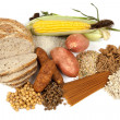 Complex Carbohydrates Food Sources - Stock Photo