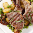 Lamb Cutlets Dinner - Stock Photo