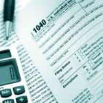 US Tax Form 1040 — Stock Photo
