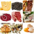 Food Sources of Protein - Stock Photo