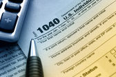 US Tax Form 1040 — Foto de Stock