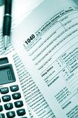 Bize form 1040 vergi — Stok fotoğraf