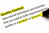Quality Control Definition — Stock Photo