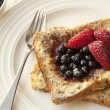 French Toast with Berries — Stock Photo