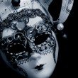 Venetian Mask over black - Stock Photo