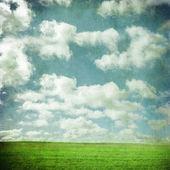 Grunge Sky and Field — Stock Photo