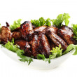 Chicken Wings in Bowl Isolated — Stock Photo