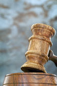 Gavel with Blurred Background — Stock Photo