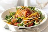 Smoked Salmon Salad — Stock Photo