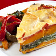 Vegetable Quiche with Salad - Stock Photo