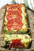 Zucchini and Bacon Slice — Stock Photo