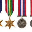 British and Australian War Medals Isolated — Stock Photo #24521291