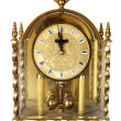 Stock Photo: Antique Carriage Clock Isolated