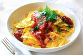 Ravioli with Bolognese Sauce — Stock Photo