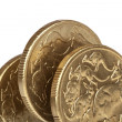 Australian One Dollar Coins — Stock Photo