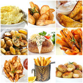 Potato Dishes Collection — Stock Photo