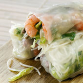 Rice Paper Rolls — Stock Photo