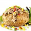 Baked Potato with Tuna — Stock Photo #27738991