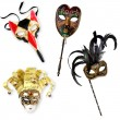 Venetian Masks Collection — Stock Photo