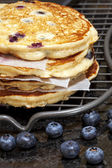 Blueberry Hotcakes — Stock Photo