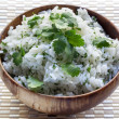 Rice with Coriander or Cilantro — Stock Photo