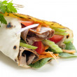 Healthy Wrap Sandwich — Stock Photo