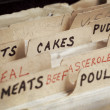 Stock Photo: Old Recipe Box