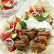 Tandoori Lamb Kebabs — Stock Photo