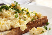 Scrambled Eggs on Toast — Stock Photo