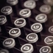 Vintage Typewriter Keys with Grunge Effects — Stock Photo