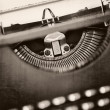 Stock Photo: Grunge Vintage Typewriter