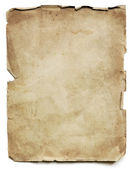 Old Paper Sheet Isolated — Stock Photo