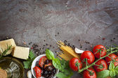 Italian Food Background — Stock Photo