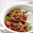 Stock Photo: Chilli Con Carne with Rice