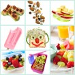 Healthy Snacking for Kids Collection — Stock Photo