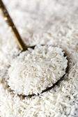 White Rice on Spoon — Stock Photo