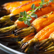 Stock Photo: Roasted Baby Carrots with Thyme