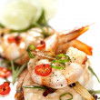 Garlic Prawns with Chili — Stock Photo