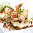 Grilled Shrimp with Garlic and Chili — Stock Photo