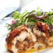Stuffed Chicken Breast with Salad — Stock Photo #40273411