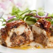 Stuffed Chicken Breast with Salad — Stock Photo #40273521