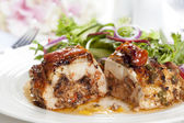 Stuffed Chicken Breast with Salad — Stock Photo