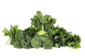 Leafy Green Vegetables Isolated — Stock Photo