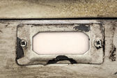 Vintage Filing Cabinet Drawer Label — Stock Photo