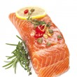 Постер, плакат: Raw Salmon Steak
