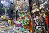 Melbourne Street Graffiti — Stock Photo