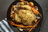 Roasted Chicken Dinner — Stock Photo